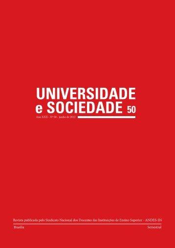 Revista Universidade e Sociedade - Andes-SN