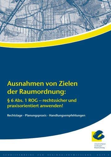 6 Abs.1 ROG - Zweckverband Grossraum Braunschweig