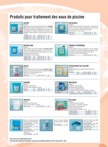 Produits pour traitement des eaux de piscine - wydler corail