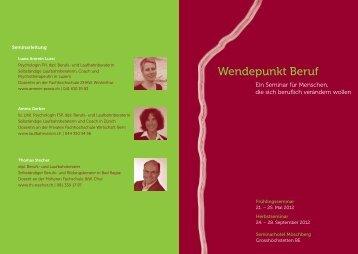Wendepunkt Beruf - Thomas Stecher