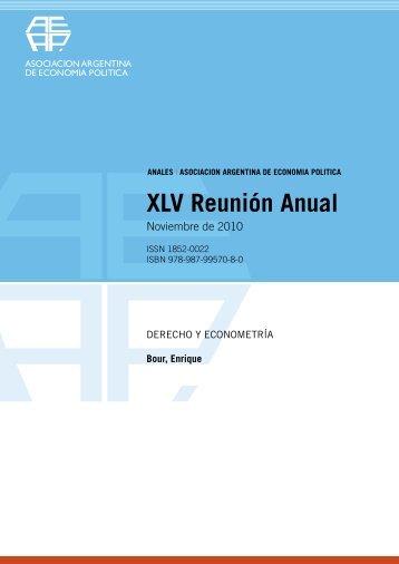 Enrique A. Bour - Asociación Argentina de Economía Política