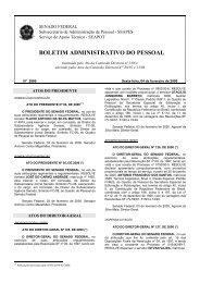 BOLETIM ADMINISTRATIVO DO PESSOAL