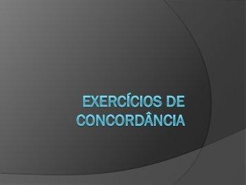 Exercícios de concordância - Sagrado - Rede de Educação
