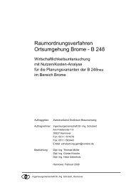 Raumordnungsverfahren Ortsumgehung Brome - Zweckverband ...