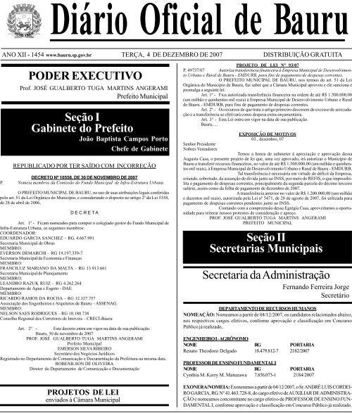 76b94fcb7 PODER EXECUTIVO Seção I Gabinete do Prefeito Secretaria da ...