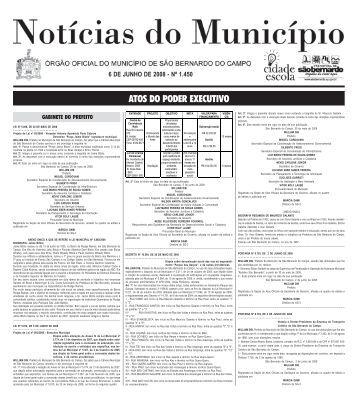 ATOS DO PODER EXECUTIVO - Prefeitura de São Bernardo