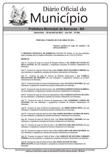 Diário Oficial do - Imbratec