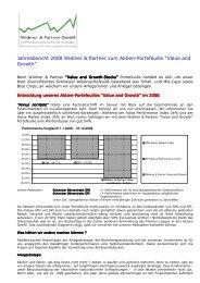 Jahresbericht 2008 - Widmer und Partner Gmbh