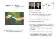 Firmenbroschüre - Widmer und Partner Gmbh