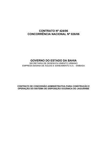 Contrato - Secretaria da Fazenda do Estado da Bahia