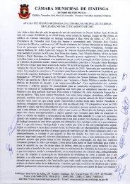 CÂMARA MUNICIPAL DE ITATINGA