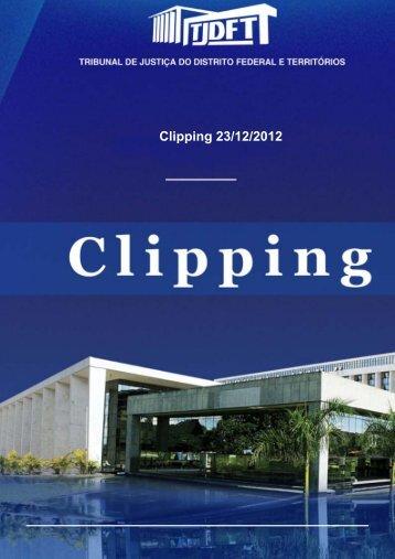 Clipping 23/12/2012 - TJDFT na mídia