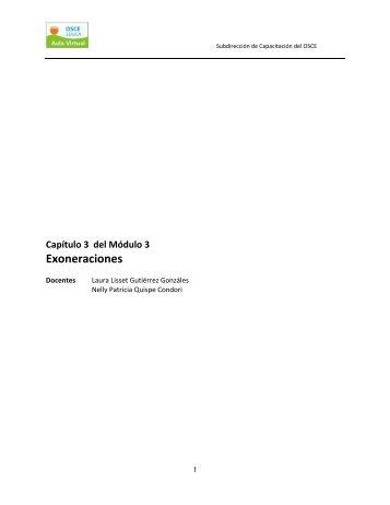 Exoneraciones - Organismo Supervisor de las Contrataciones del ...