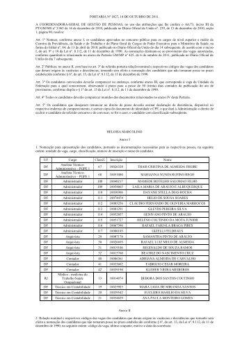 Portaria Nº 1027 - Ministério da Saúde