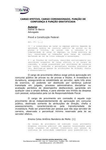 cargo efetivo cargo comissionado funcao de ... - Tdbvia.com.br