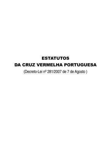 ESTATUTOS DA CRUZ VERMELHA PORTUGUESA (Decreto-Lei nº ...