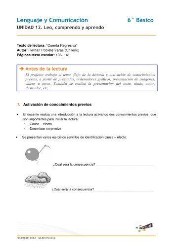 Lenguaje y Comunicación 6° Básico - Educarchile