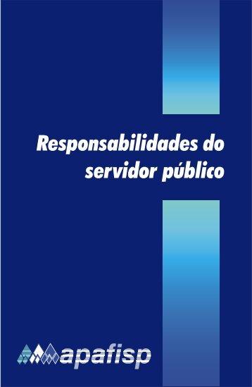Responsabilidades do servidor público - Apafisp
