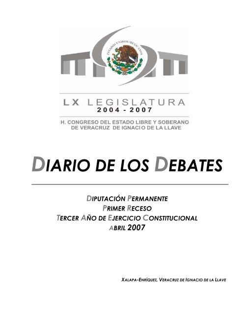 Diario De Los Debates H Congreso Del Estado De Veracruz