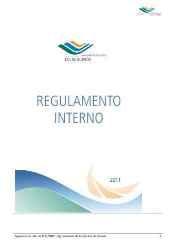 Regulamento Interno 2011/2012 – Agrupamento de Escolas Eça de ...