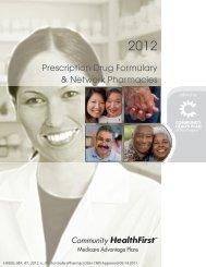 Prescription Drug Formulary & Network Pharmacies 3 Tier