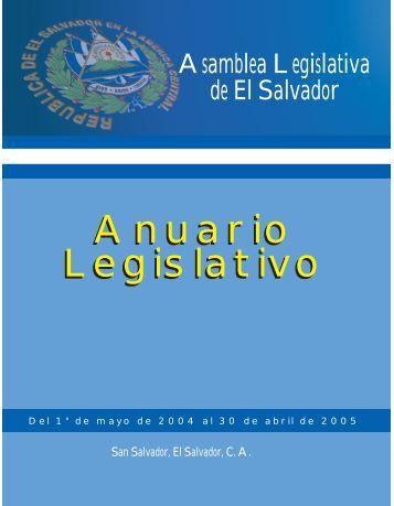 Anuario Legislativo 04-05 - Asamblea Legislativa
