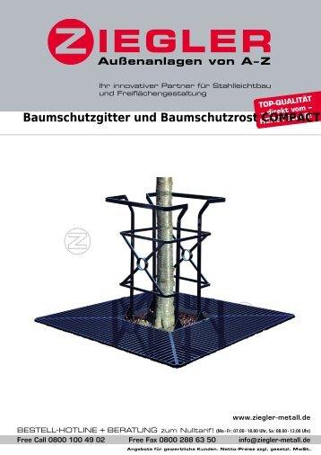 Baumschutzgitter und Baumschutzrost COMPACT - Ziegler
