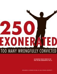 TOO MANY WRONGFULLY CONVICTED - The Innocence Project