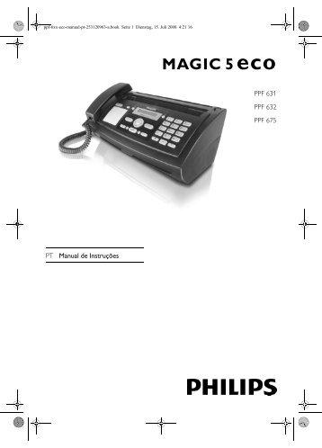 PT Manual de Instruções PPF 631 PPF 632 PPF 675 - Philips