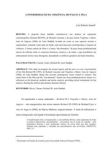 LUIZ ZANOTTI -Dossiê Literatura - revista Icarahy