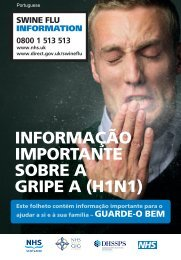 Swine Flu leaflet - Important information - Gov.uk