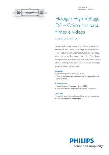 Product Familiy Leaflet: Broadway Estúdio/Filme DE - Philips