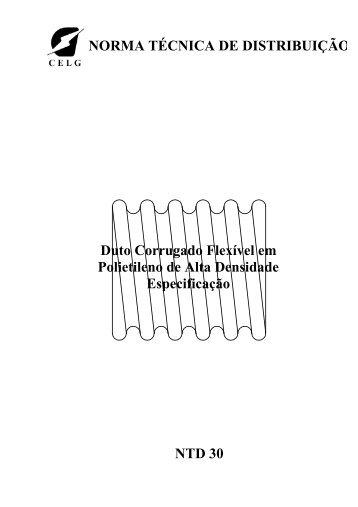 Duto Corrugado Flexível em Polietileno de Alta Densidade - Celg D