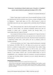 Democracia e Autoritarismo no Brasil: relações entre o Executivo eo ...