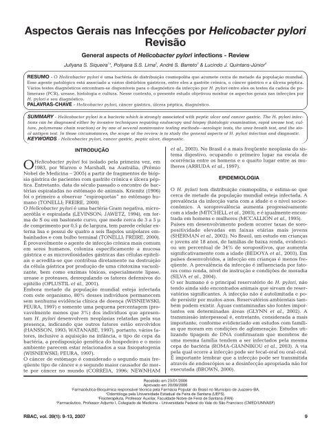 gastritis por helicobacter pylori diagnostico