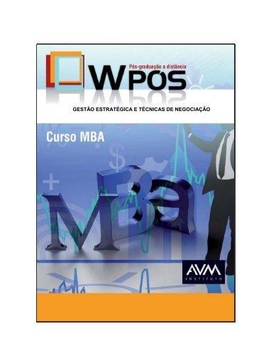1 gestão estratégica e técnicas de negociação - Ambiente Virtual de ...