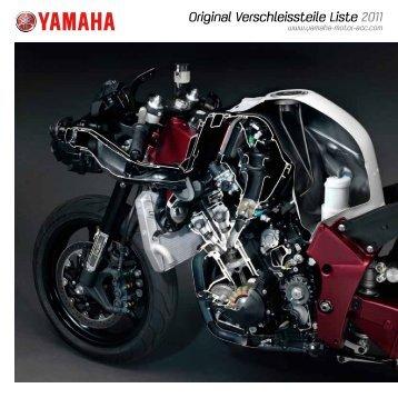 Original Verschleissteile Liste 2011 - Yamaha Motor Europe