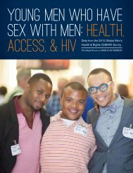 Young Men Who Have Sex with Men: Health, access, & hiv