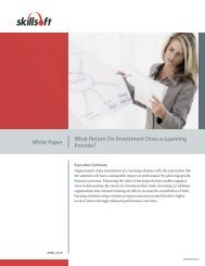White Paper What Return On Investment Does e-Learning Provide?