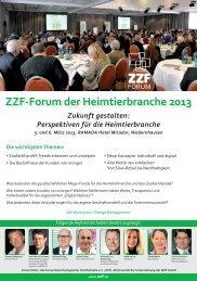 ZZF-Forum der Heimtierbranche 2013 Zukunft gestalten