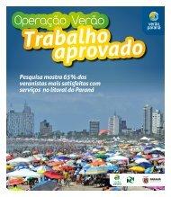 Jornal Operação Verão - Verão Paraná - Governo do Paraná