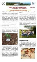 Boletim informativo Outubro 2012 - Projeto Ambiental GAIA VILLAGE