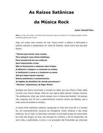 As Raízes Satânicas da Música Rock - The Baptist Link