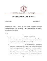 Exame de Acesso - ORDEM DOS ADVOGADOS DE MOÇAMBIQUE