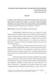 A ditadura militar brasileira e os movimentos de - IELA