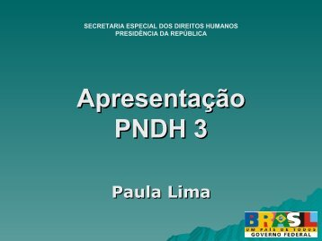 O PNDH - DHnet
