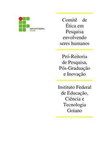 Pesquisa envolvendo Humanos - Instituto Federal Goiano