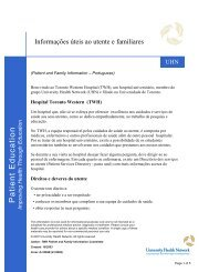 Patient Education Template - University Health Network