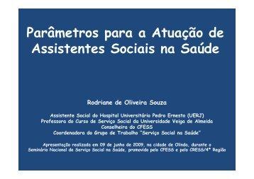 Rodriane Souza - CFESS