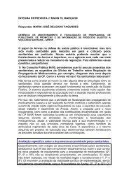 ÍNTEGRA ENTREVISTA /// RADIS 79, MARÇO/09 Respostas ...
